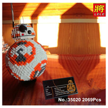In Stock UCS LELE 35020 2069PCS Poe Dameron Astromech droid BB-8 Robot Model Building Block Gifts Bricks Kids Toys