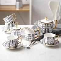 Полноценно костяного фарфора Кофе комплект Керамика Кофе Европейский Кубок послеобеденный чай. Пномпень костюм