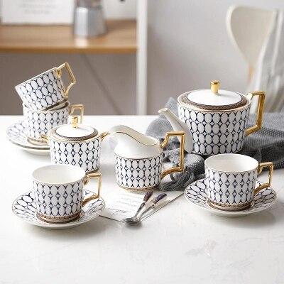 Service de café en porcelaine d'os de haute qualité | Tasse de café en céramique tasse européenne de thé de l'après-midi Costume de Phnom Penh | Costume