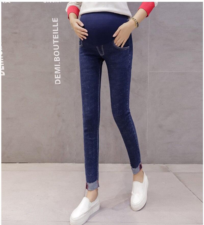 551a5c808 Pantalones vaqueros de maternidad pantalones flacos señora Denim Leggings  embarazadas pantalones tobillo-longitud enfermería vientre