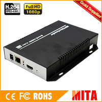 H.264 Full HD MPEG 4 AVC hdmi ip encoder for IPTV streaming to Youtube Wowza Facebook Ustream