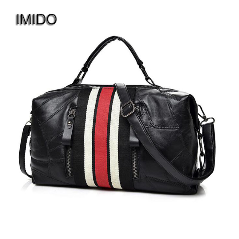 IMIDO 2018 Designer Women Handbags Genuine Leather Women's Shoulder Bag Crossbody Bag Sheepskin Tote Bags bolsa feminina HDG107