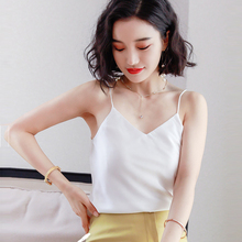 Sexy Silk Top Tank Women Slim Sleeveless Shirt Womens Basic Camisole Halter Layered Summer Tops For 2019
