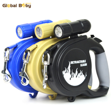 High Quality Brand 5M LED ABS Automatic Retractable Pitbull Pet Lead Leashes for Medium Big Dogs