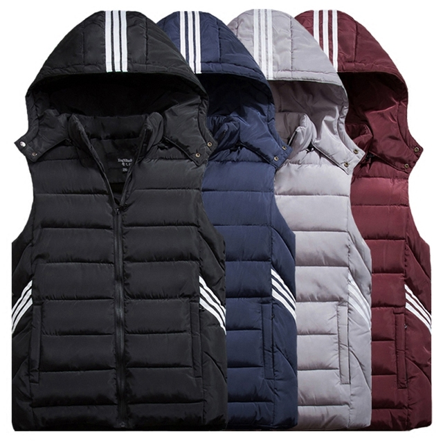 2016 Winter Brand New Men's Hooded Warm Thermal Waistcoat Male Fashion Sleeveless Jacket Down Vest Plus Size XL-9XL Y1124-99E
