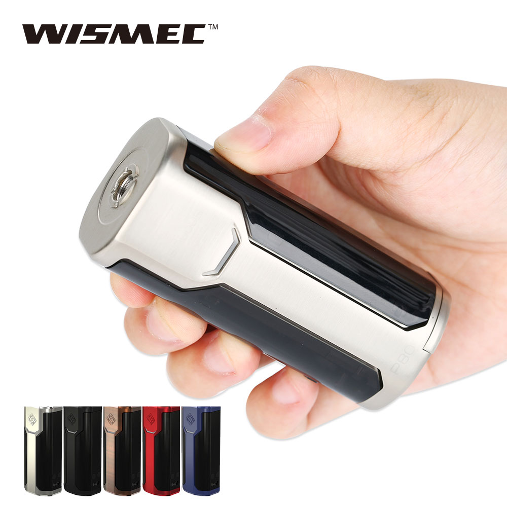 Original 80W Wismec Sinuous P80 TC Mod  Match Elabo Mini Tank Sinuous P80 Box MOD 80W VW/Bypass Electronic Cig Vape Vaporizer original electronic cigarette mod vape pen smoant charon 218w tc box mod mechanical mod leather cover free shipping