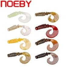 цена NOEBY Soft Fishing Lure 6cm/1.8g 8cm/4.3g Silicone Bait Curlt Tail Grub Isca Artificial Pesca Peche Leurre Souple Carp Swimbait онлайн в 2017 году