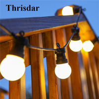 Thrisdar Warm White Festoon Globe Bulbs Fairy Led String Light 10LED 20LED Outdoor Backyard Wedding Party Globe Fairy Garland