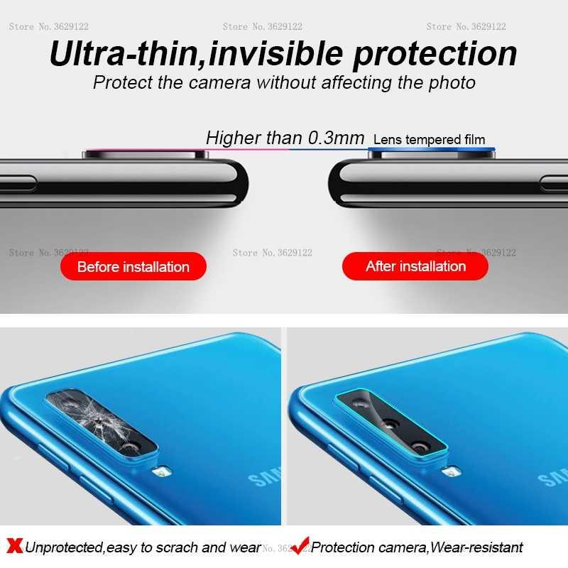 Câmera traseira lente de vidro para samsung galaxy a9 2018 j4 plus j6 j8 j7 2018 a7 protetor de tela para galaxy a7 a9 filme anti-risco