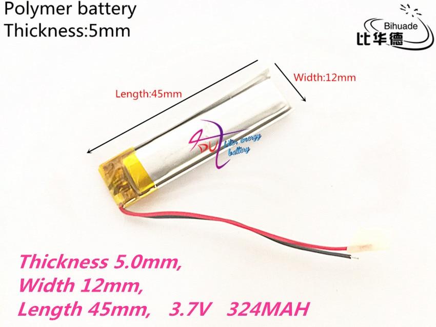 2019 Neuestes Design 501245 3,7 V 324 Mah 051245 Lithium-polymer Li-po Li Ionen Akku Zellen Für Mp3 Mp4 Mp5 Gps Psp Mobile Bluetooth