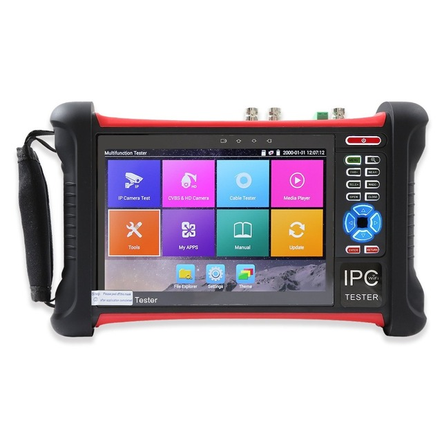 Monitor IP de 7 pulgadas 6 en 1 H.265 4K HD CCTV, probador de cámara IP CVBS AHD CVI TVI SDI 8MP 5MP, probador de cámara ONVIF WIFI HDMI, entrada WIFI POE 48V
