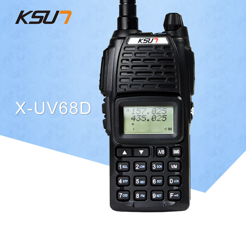 (1 PCS)KSUN UV68D Ham Two Way Radio Walkie Talkie Dual-Band Transceiver BUXUN X-68D(Black)