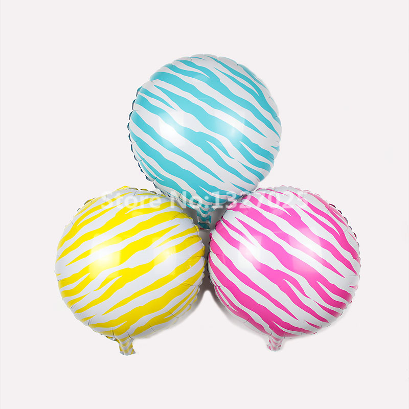 1pcs/lot New 18inch Candy Zebra Animal Pet Foil Balloons Wedding Birthday Party Decoration Kids Inflatable Toys Helium Balloon Festive & Party Supplies Home & Garden