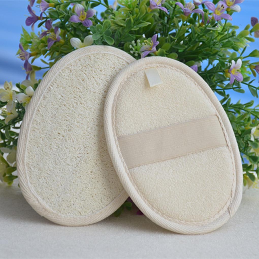 High Quality 1PC Natural Loofah Sponge Bath Rub Exfoliate Bath Towel Body Healthy Massage Brush