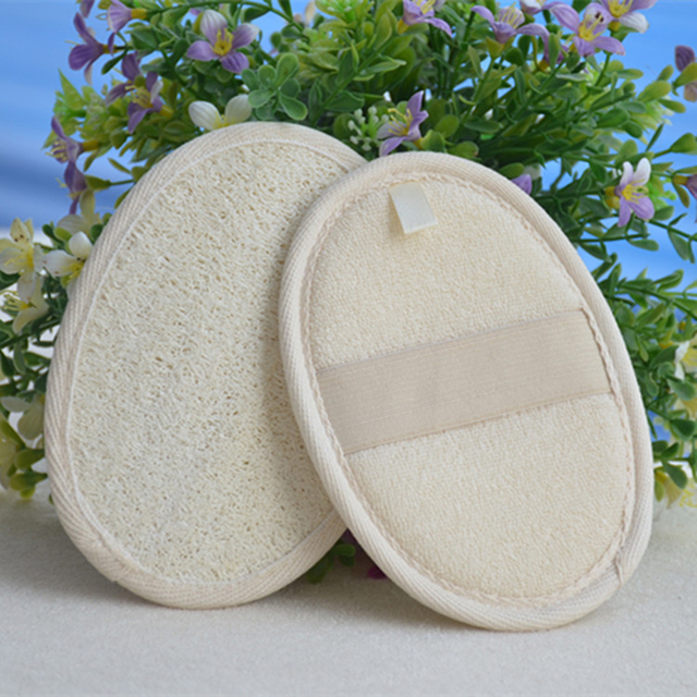 High Quality 1PC Natural Loofah Sponge Bath Rub Exfoliate Bath Towel Body Healthy Massage Brush