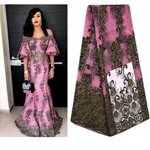 Afrikaanse Kant Stof 2018 Geborduurde Franse Veters Stof Hoge Kwaliteit Franse Tule Kant Stof Voor Wedding Party Dress A697