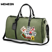 Patchwork Canvas Sports Gym Bag for Men and Women Fitness Training Bags Waterproof Large Capacity Tote