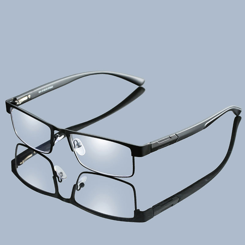 Men Alloy Frame Reading Glasses Non spherical 12 Layer Coated lenses Business Hyperopia Prescription Eyeglasses