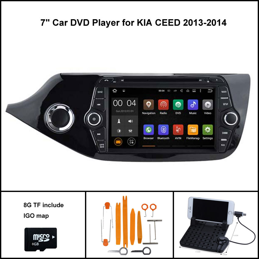 Android 7 1 Quad Core CAR DVD Player for KIA CEED 2013 GPS AUTO font b