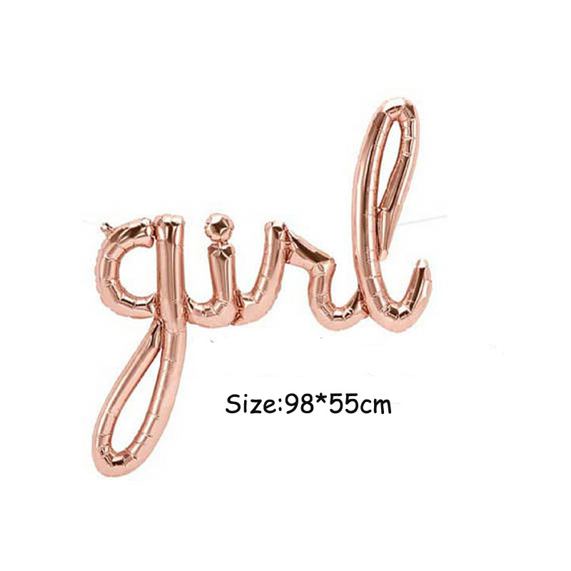 Image 4 - Jumbo White Gold Baby Balloon Baby Boy Script Balloon Baby Shower Air Fiol Helium Balloon Gender Reveal Decorations-in Ballons & Accessories from Home & Garden
