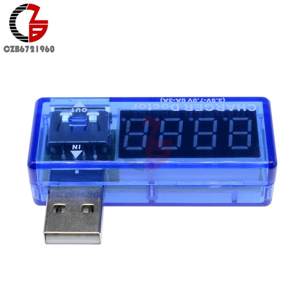 Миниатюрный светодиодный дисплей цифровой USB Вольтметр Амперметр мощность Ток Напряжение метр тестер Портативный USB вольт усилитель заряда детектор-адаптер