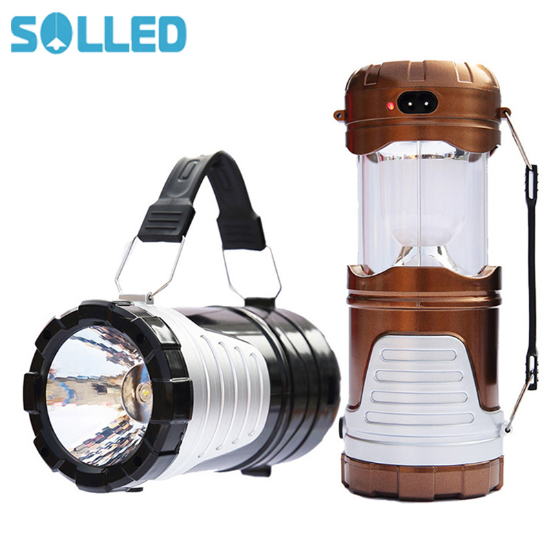 SOLLED LED Solar Lamp Portable Multifunction Handhold Camping Lamp Solar-powered Emergency Tent Light Outdoor Activities