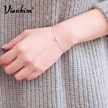 Vienkim, дизайн, женский браслет с сердцем, браслет на ногу, модный браслет, женский подарок, FAMSHIN