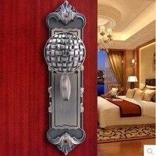 Медь цилиндр замка античная бронза латунь давление замок утолщаются ручку дверного замка