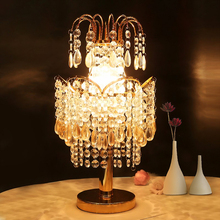 Modern European Crystal Table Lamps Luxury Creative Warm Princess Room Bedroom Bedside Lamp Fashion Decoration Wedding Lamps table lamps princess modern minimalist bedroom bedside lamp wedding garden