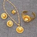 Bangrui Moda Dubai Jóias de Ouro 24 k Banhado A Ouro Jóias Para Etíope Africano