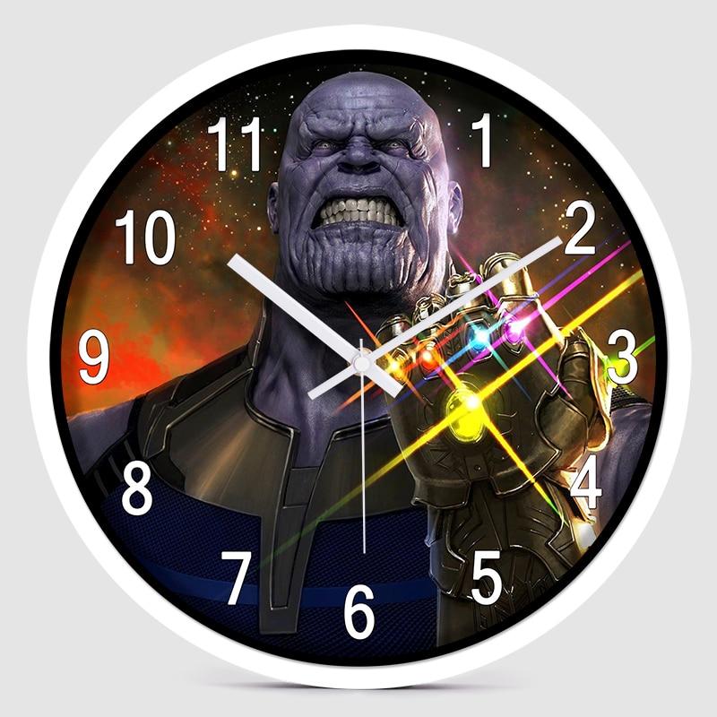 12 pouces silencieux Cartoon Super héros Avenger horloge murale colorée moderne chambre d'enfants cuisine maison décorative - 2