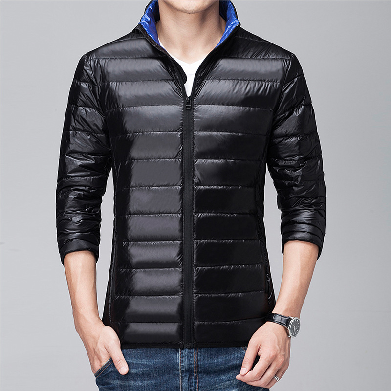 Simple and extraordinary youth popular Winter men's   down   jacket slim short Korean version of ultra-thin men's Winter   Coat