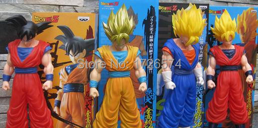 1pcs/lot 16 Inch Dragon Ball Super Saiyan Son Goku Vegeta Big PVC Action Figure Model Boys Toys Children Toy Gifts dragon ball z super big size super son goku pvc action figure collectible model toy 28cm kt3936