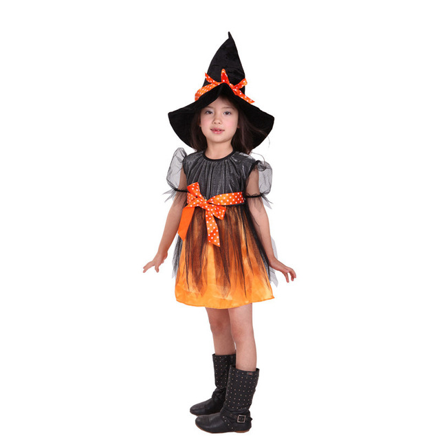 Fancy Masquerade Girls Dress Witch Clothing Halloween Costume for Girls with Hats Costume for Kids Carnival  sc 1 st  AliExpress.com & Fancy Masquerade Girls Dress Witch Clothing Halloween Costume for ...