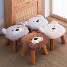 Solid wood Cartoon Stool Cloth Dwarf Pier Coffee Table Stool Household Heightening Sofa Shoe Bench Stool цены