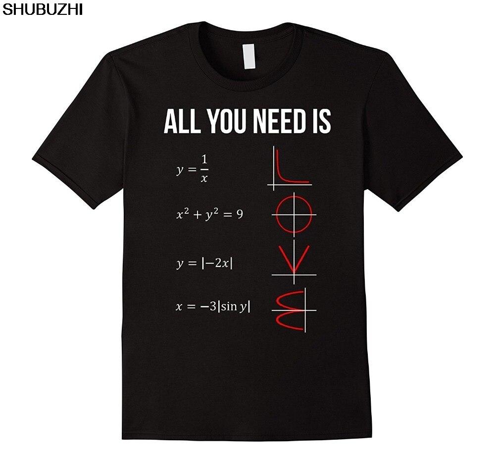 Fashion Logo Printing T Shirts Men'S Short Sleeve All You Need Is Love Math  O-Neck Fashion Shubuzhi Tees Sbz140
