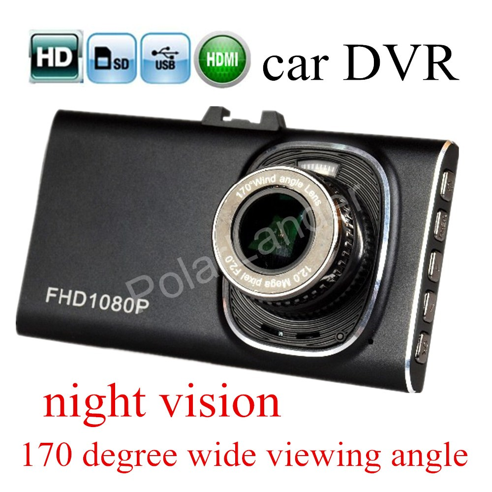 new arival camera hight quality HD 3 inch Car Camera dash cam GT900 DVR detector night vision 170 degree wide viewing angle