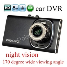 new arival camera hight quality HD 3 inch Car Camera dash cam GT900 DVR detector night vision 170 degree wide viewing angle(China)