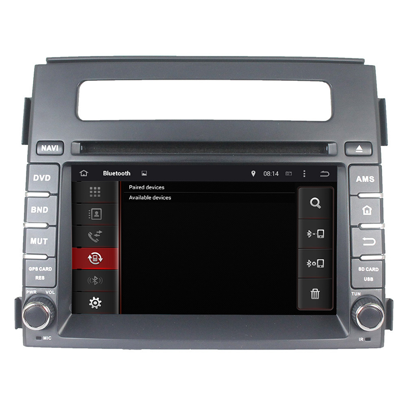 For 2 Din Capacitive android 5.1 4-core touch screen Kia Soul 2013-2014 car dvd player GPS with BT Ipod list gps Wifi Radio SWC