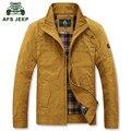 AFS JEEP 2017 Primavera chaqueta de algodón ocasional de los hombres de marca de alta calidad abrigo de hombre otoño chaquetas hombres abrigos verde del ejército de color caqui M-XXXL