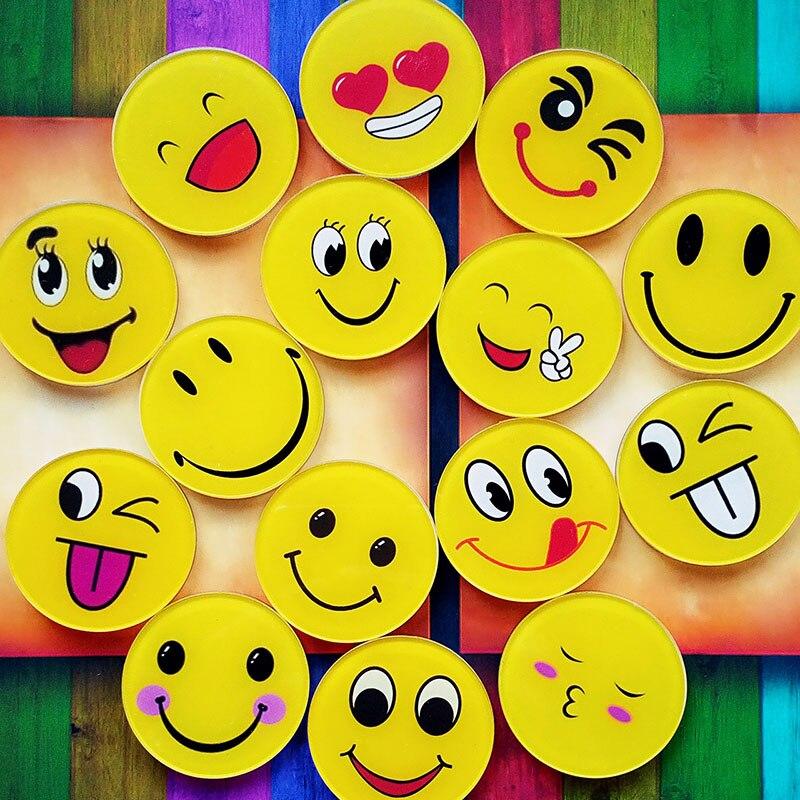 Keythemelife 5 Pcs Fashion Expression Face Emblem Cartoon Jewelry Kids Birthday Party Supplies Diy Phone Patch (Non-stick) BA