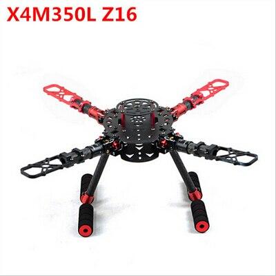 X4M350L Z16 350 500 580mm Wheelbase Foldable 4axis Frame/ Rack Quadcopter Carbon Fiber Frame orange 550mm wheelbase 4 axles foldable aircraft frame for xcam 480 fci