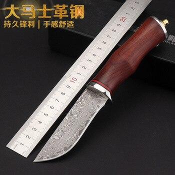 Handmade forged Damascus steel hunting knife 58 HRC Camping knife ebony handle Survival knife essential self-defense Favorites Охотничий нож
