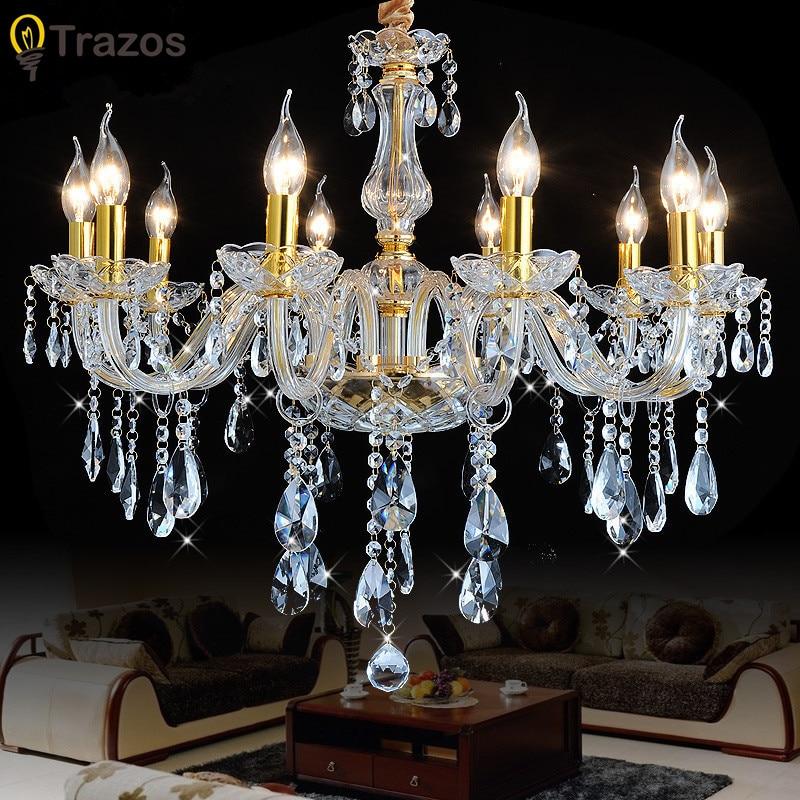 2018 Modern LED Crystal Chandelier Lights Lamp For Living Room Light Ceiling Fixture Indoor Pendant Lamp Home Decorative