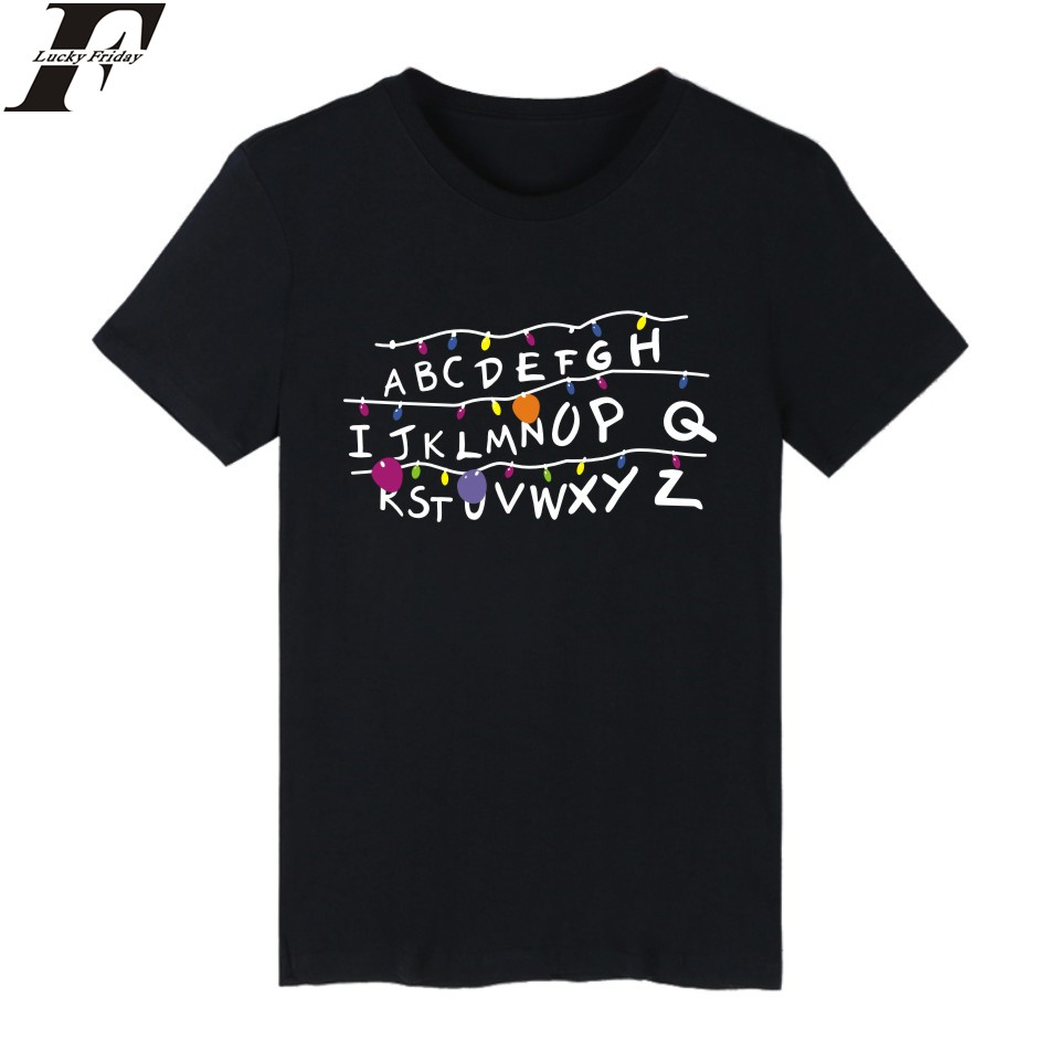 buy luckyfridayf stranger things t shirt. Black Bedroom Furniture Sets. Home Design Ideas