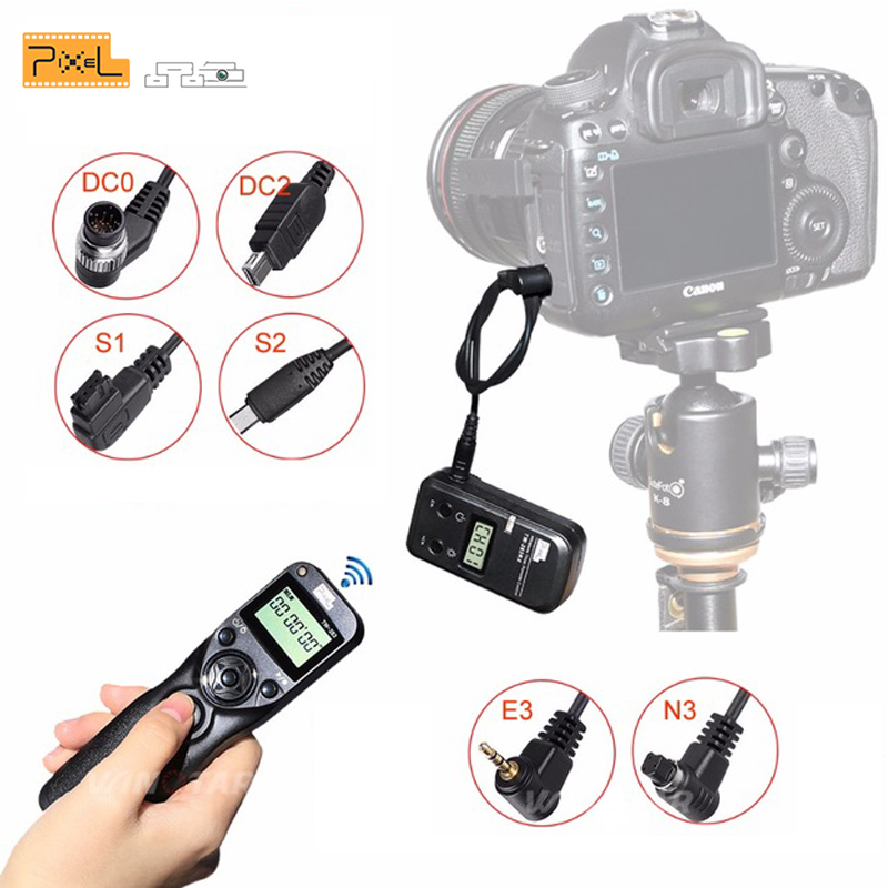 Pixel TW-283 Camera Wireless Timer Remote Shutter Release Control Cable For Canon Nikon Sony Samsung D3400 D7200 D7000 D5300