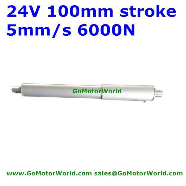 6000N 600 кг 1320LBS нагрузка 5 мм/сек. 0,2 дюйма/sec скорость 100 мм 4 дюйма хода 24 В DC сверхмощный электрический линейный привод LA19B 20150814