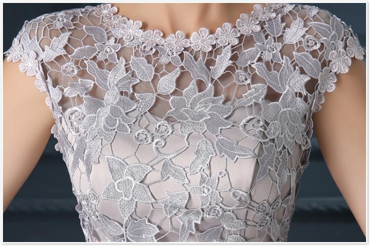 Robe De Soiree 2017 gery u collar Lace Up short evening dress abendkleider vestito da sera prom dresses party dresses 4 colors 16