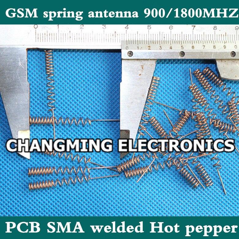 GSM пружинная антенна 900/1800 МГц ПП SMA сварная GPRS антенна Чили 3dbi фосфорная медь масса(работает) 50 шт