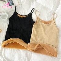Lover Beauty Seamless Women Warm Top Plus Velvet Body Shaper Waist Trainer Weight Loss Underwear Sweat Sauna Vest A
